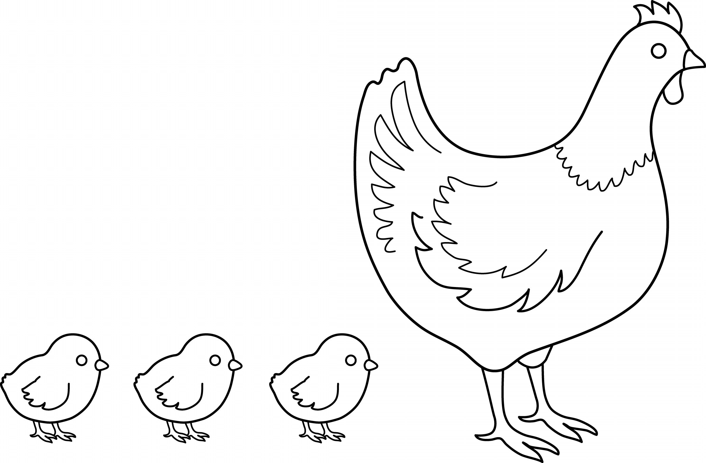 Chicken Coloring Pages Printable