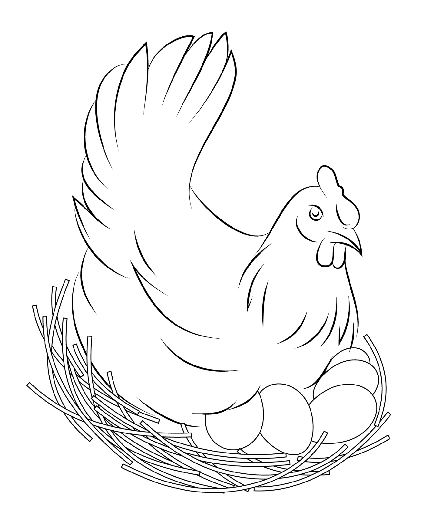 Chicken Coloring Pages To Print