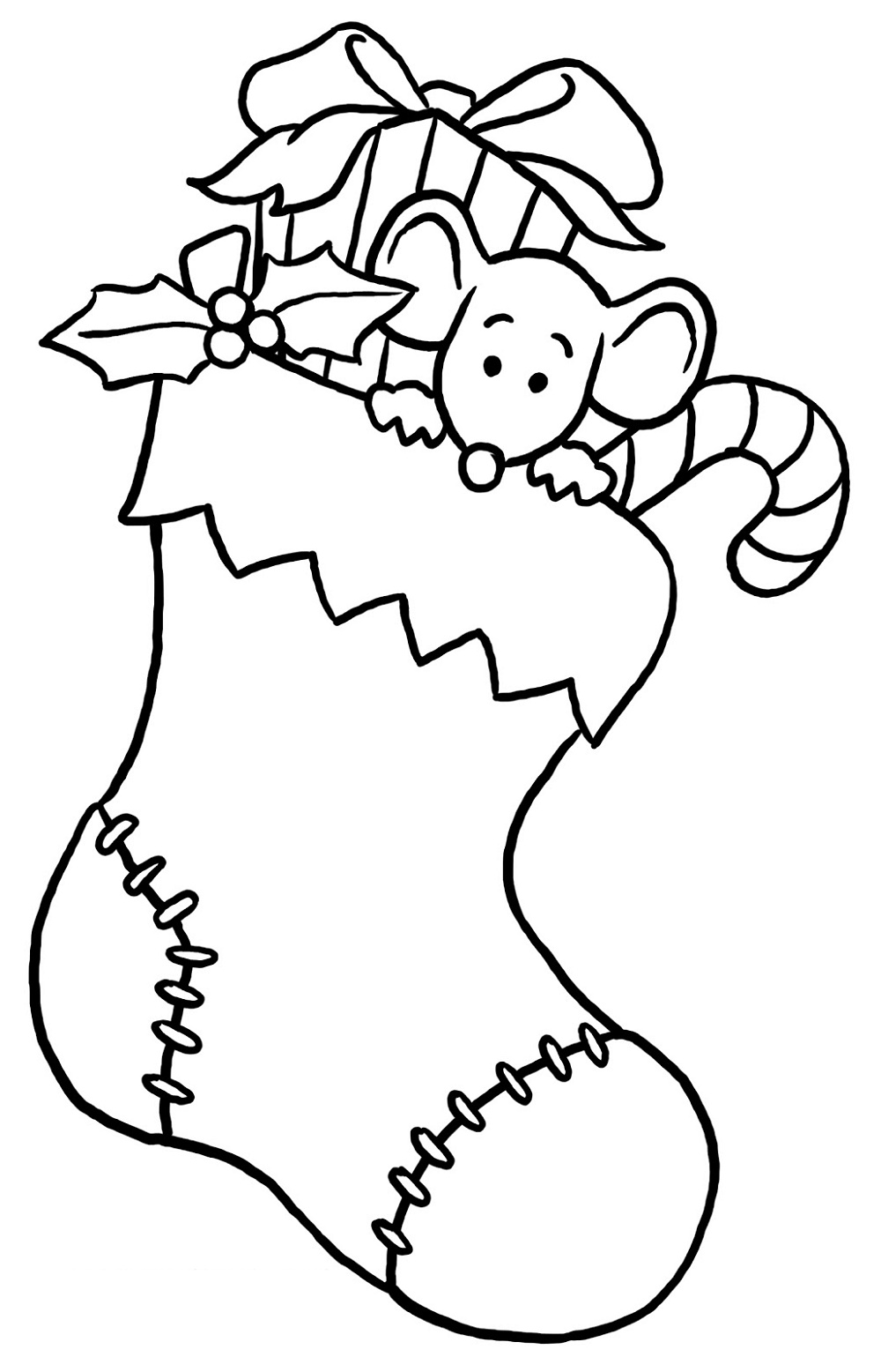 Christmas Coloring Pages For Kids Christmas Stocking
