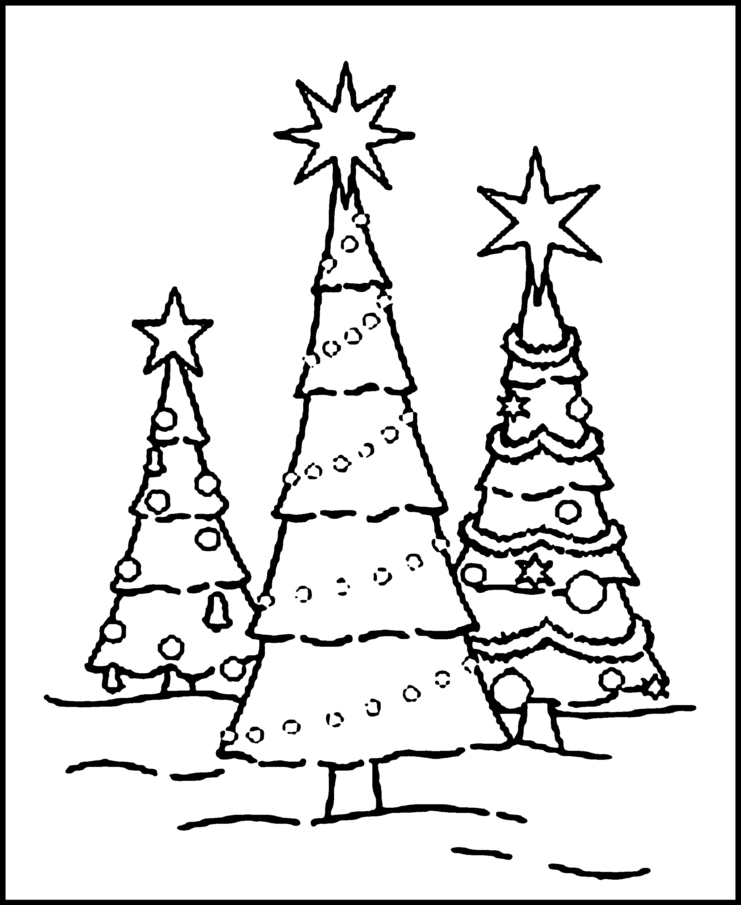Christmas Coloring Pages For Kids Christmas Tree