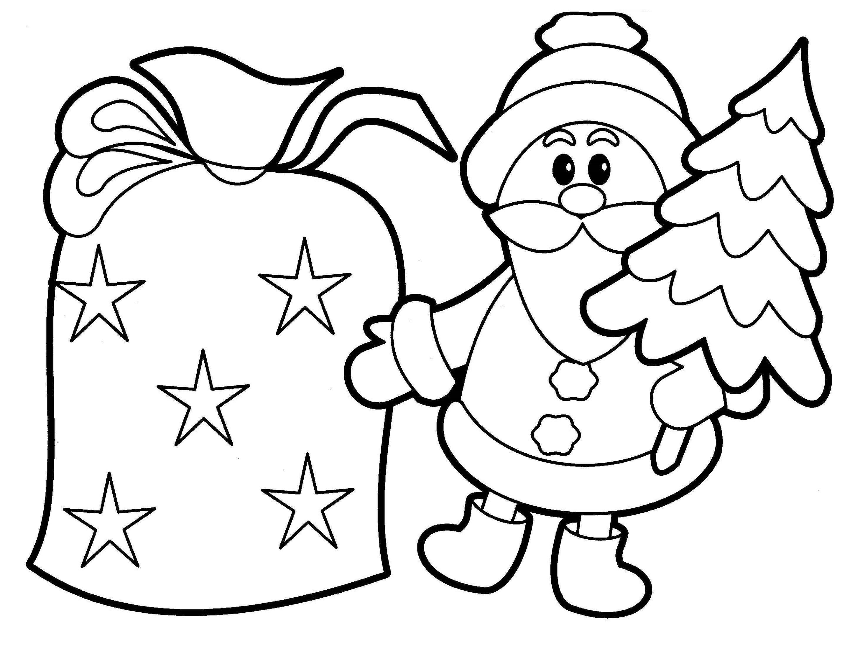 Christmas Coloring Pages For Kids Santa
