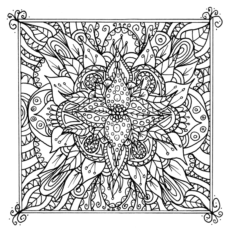 Colorama Coloring Book Flower
