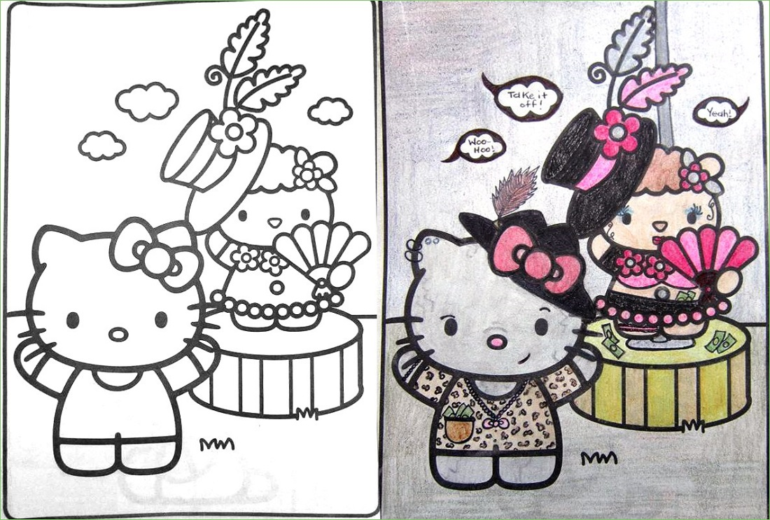 Coloring Book Corruptions Hello Kitty