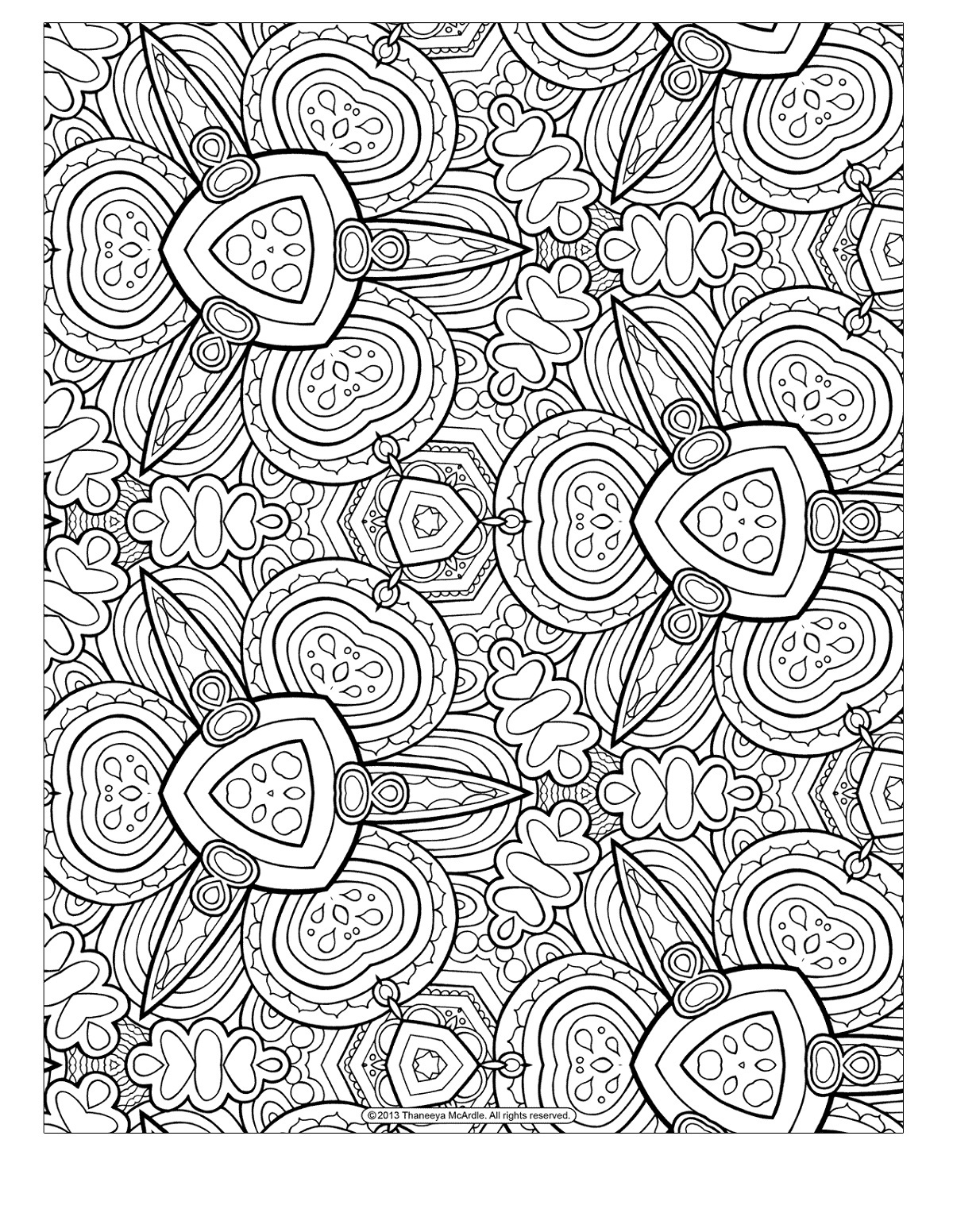 Coloring For Adults Free Pattern