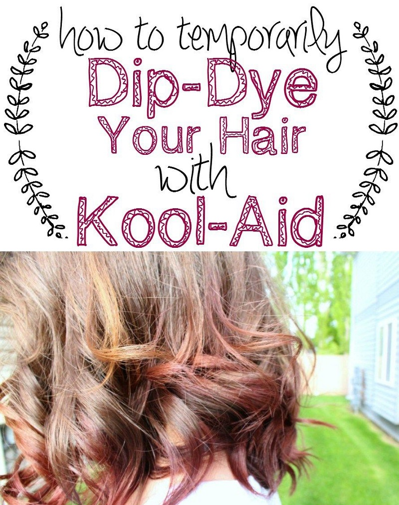 Coloring Hair With Kool Aid Dip-dye
