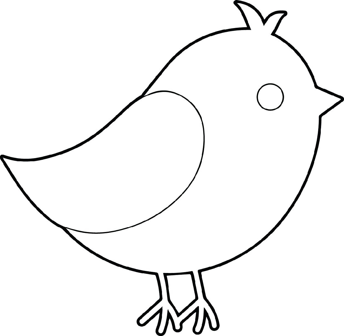 Coloring Pages For Kids To Print Bird
