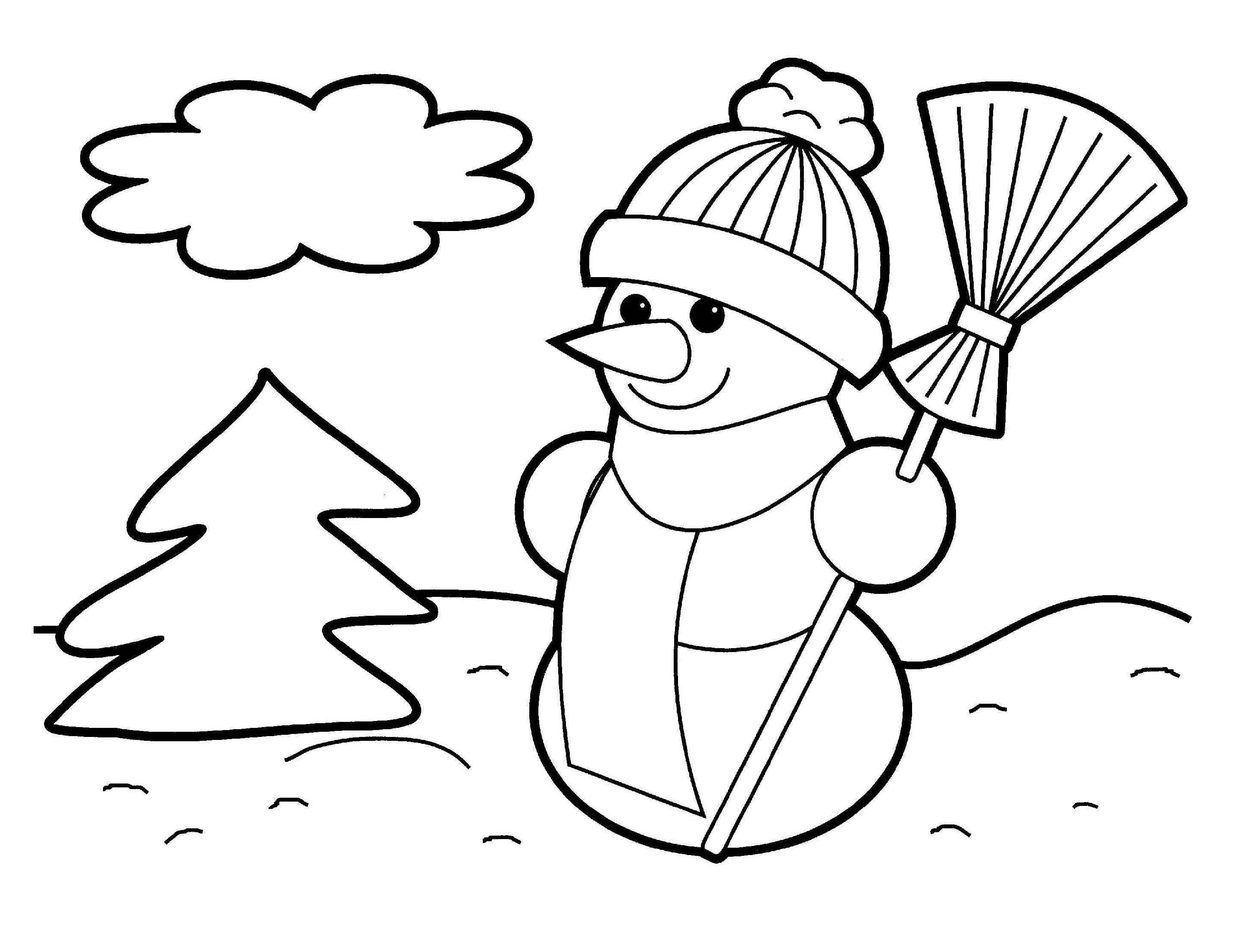 Coloring Pages For Kids To Print Christmas
