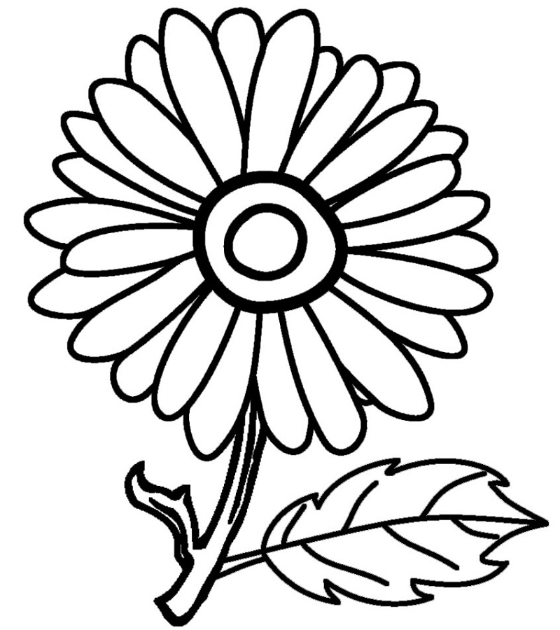 Coloring Pages For Kids To Print Flower