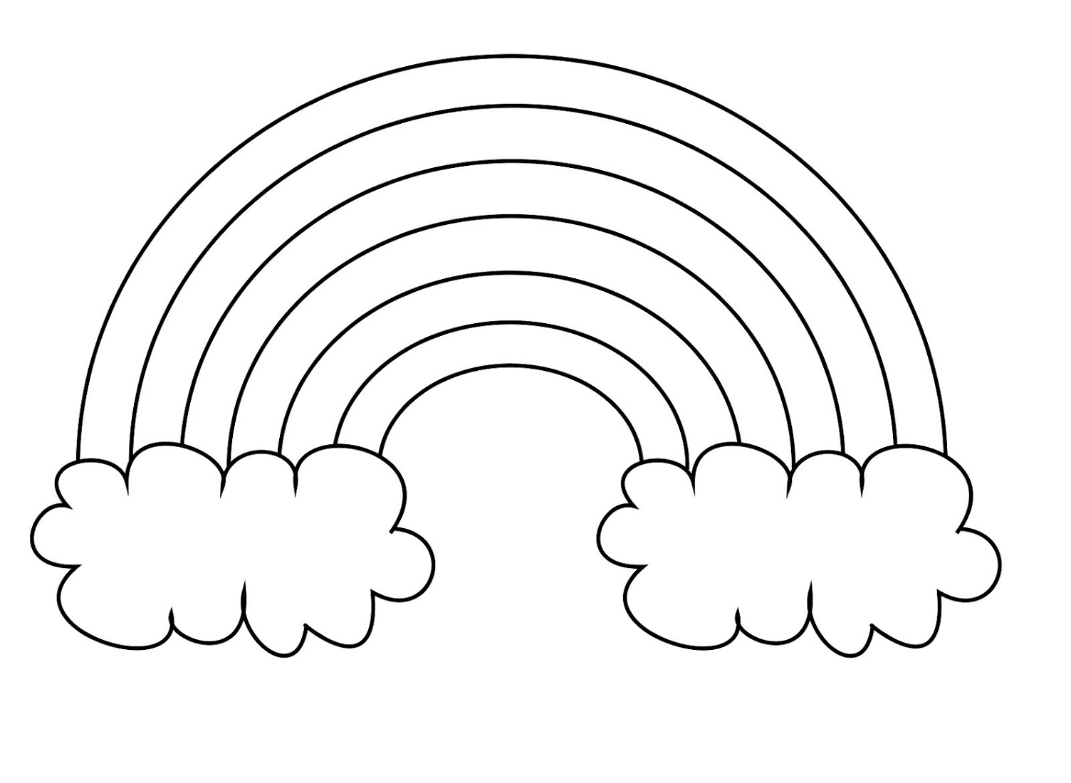 Coloring Pages For Kids To Print Rainbow