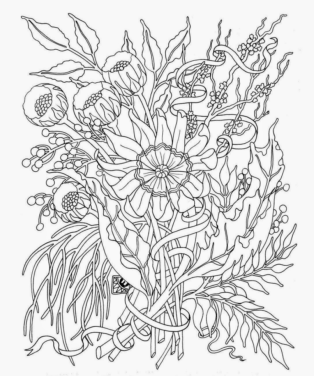 Coloring Sheets For Teens Floral