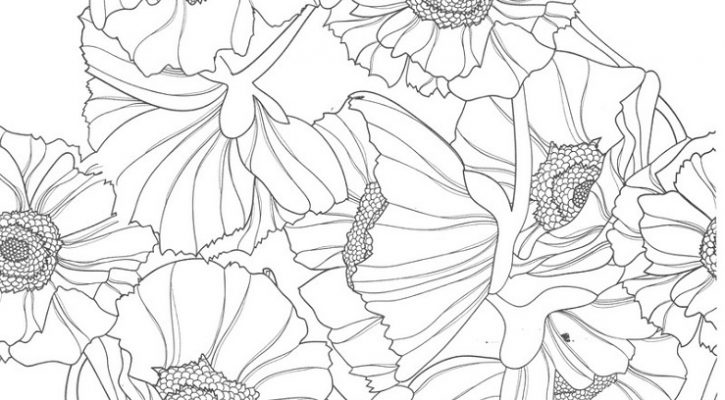 Coloring Sheets For Teens Flowers