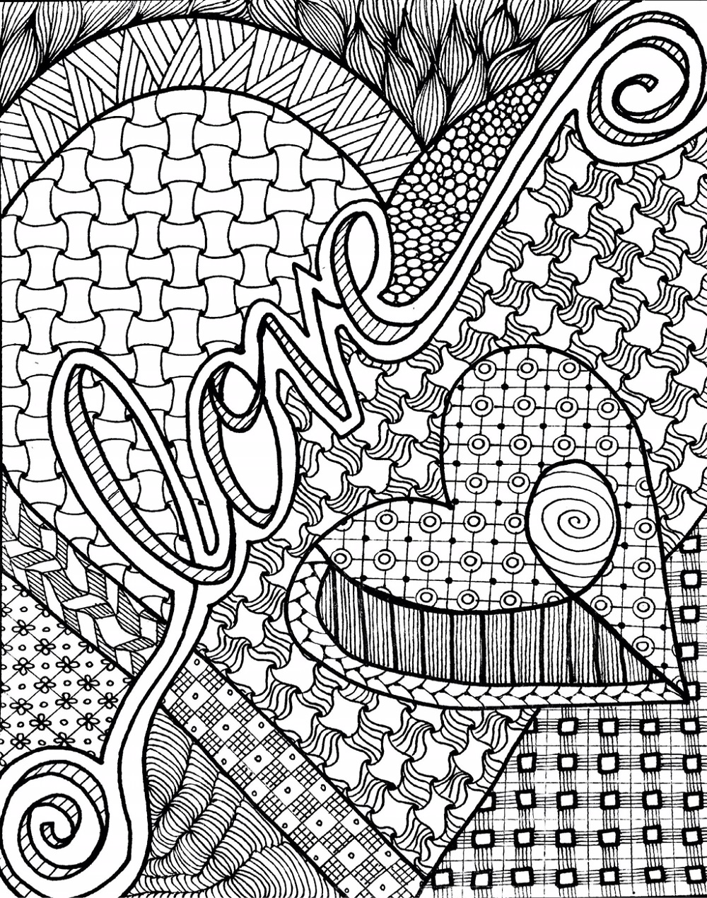 Coloring Sheets For Teens Zentangle