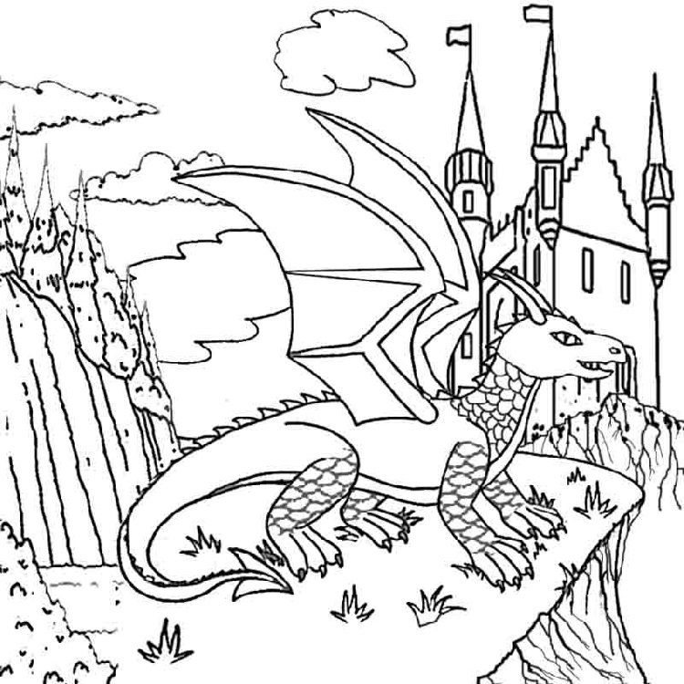 Cool Coloring Pages Castle