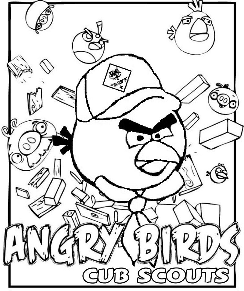 Cub Scout Coloring Pages Angry Birds
