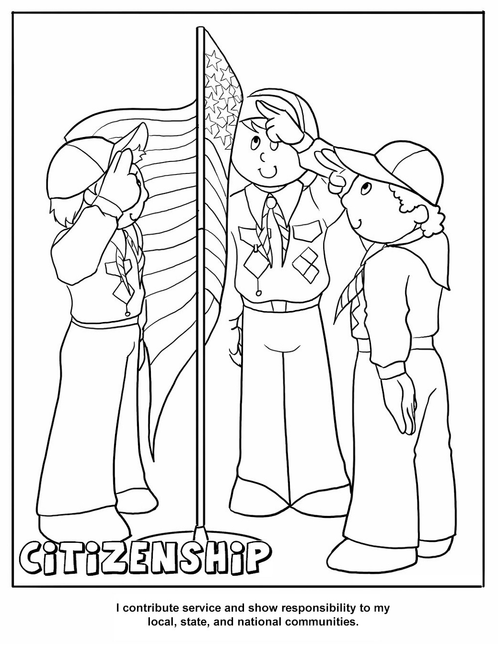 Cub Scout Coloring Pages Citizenship