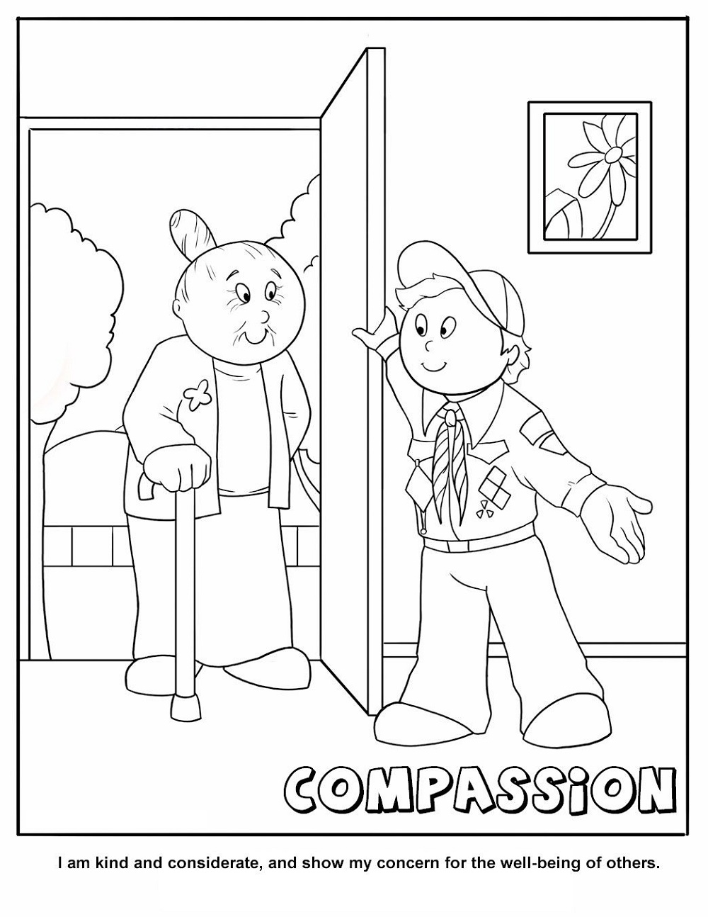 Cub Scout Coloring Pages Compassion