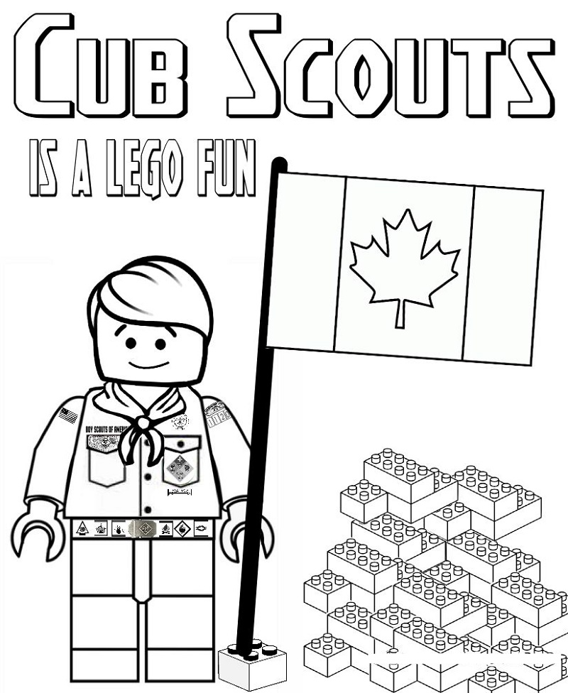 Cub Scout Coloring Pages Lego