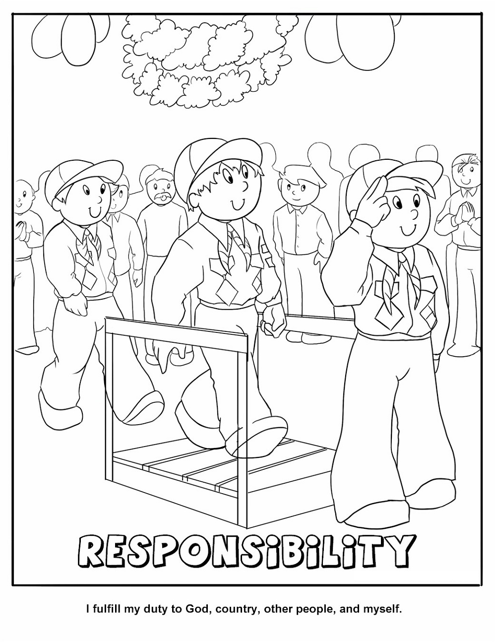 Cub Scout Coloring Pages Responsibility
