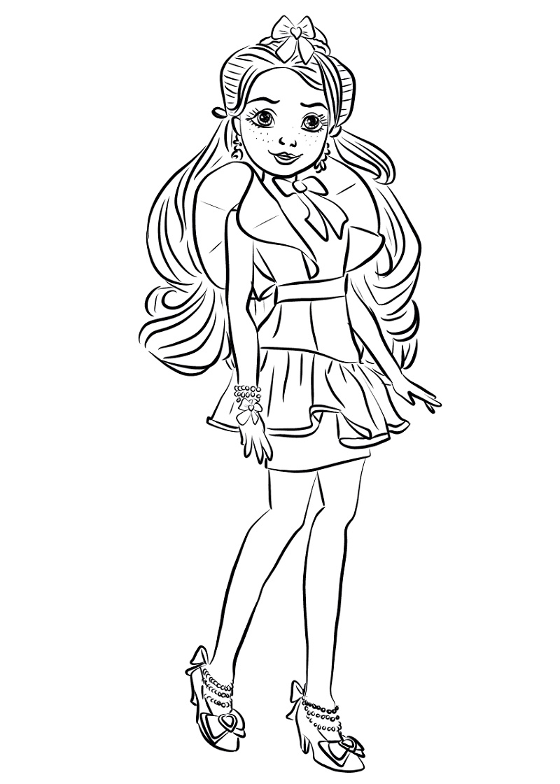 Descendants Coloring Pages Jane