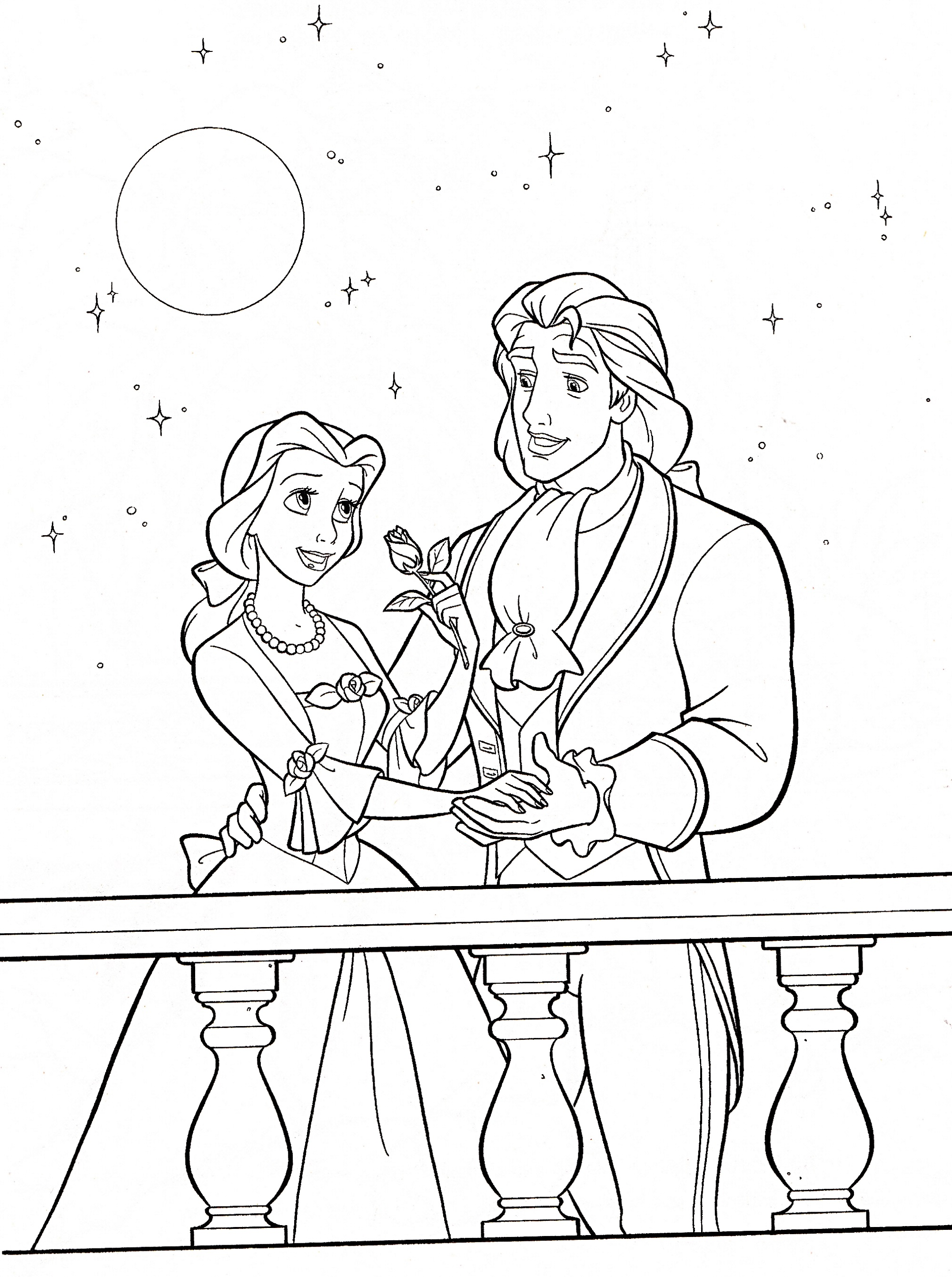 Disney Coloring Book Beauty And The Beast