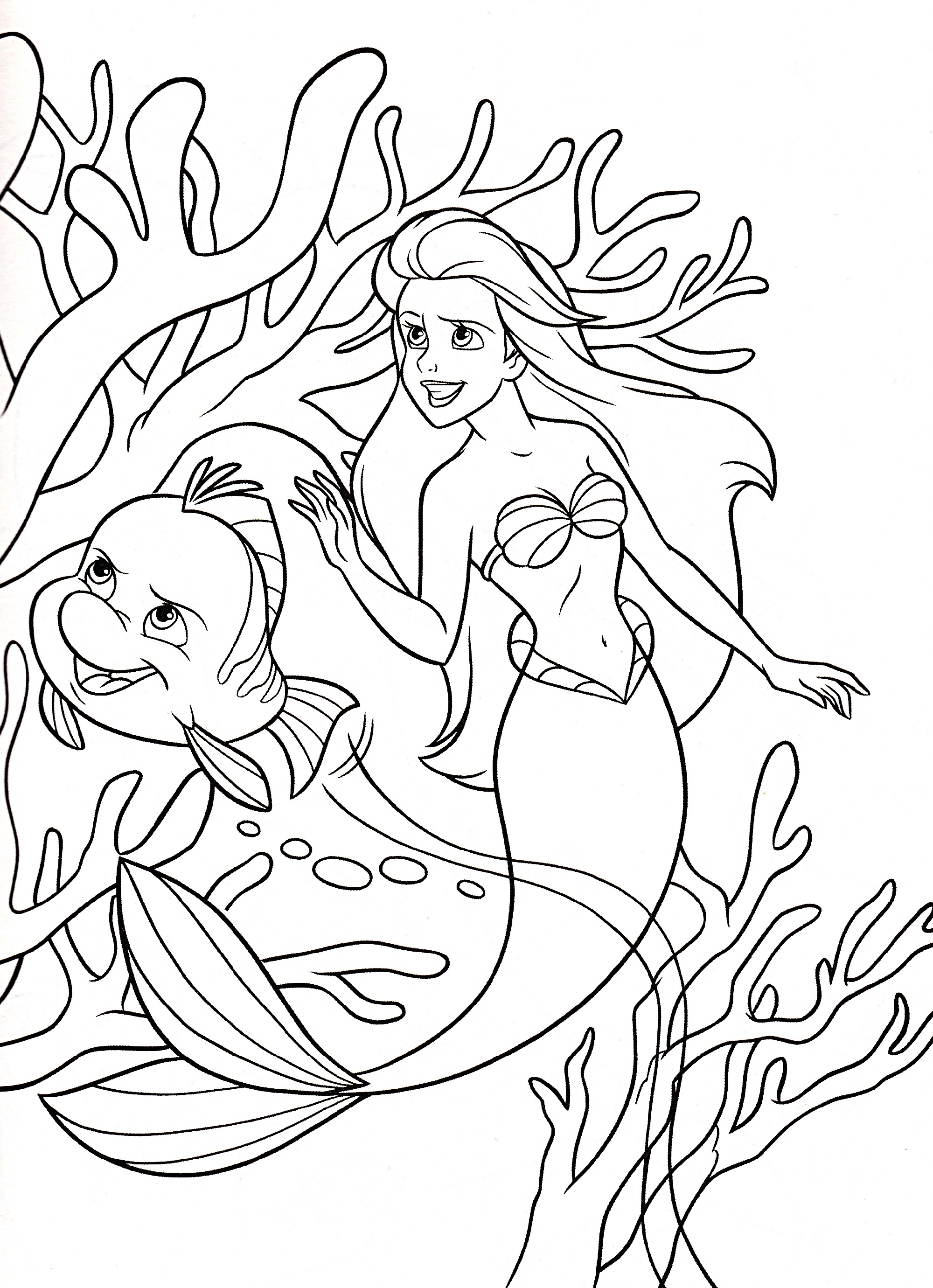Disney Coloring Book Little Mermaid