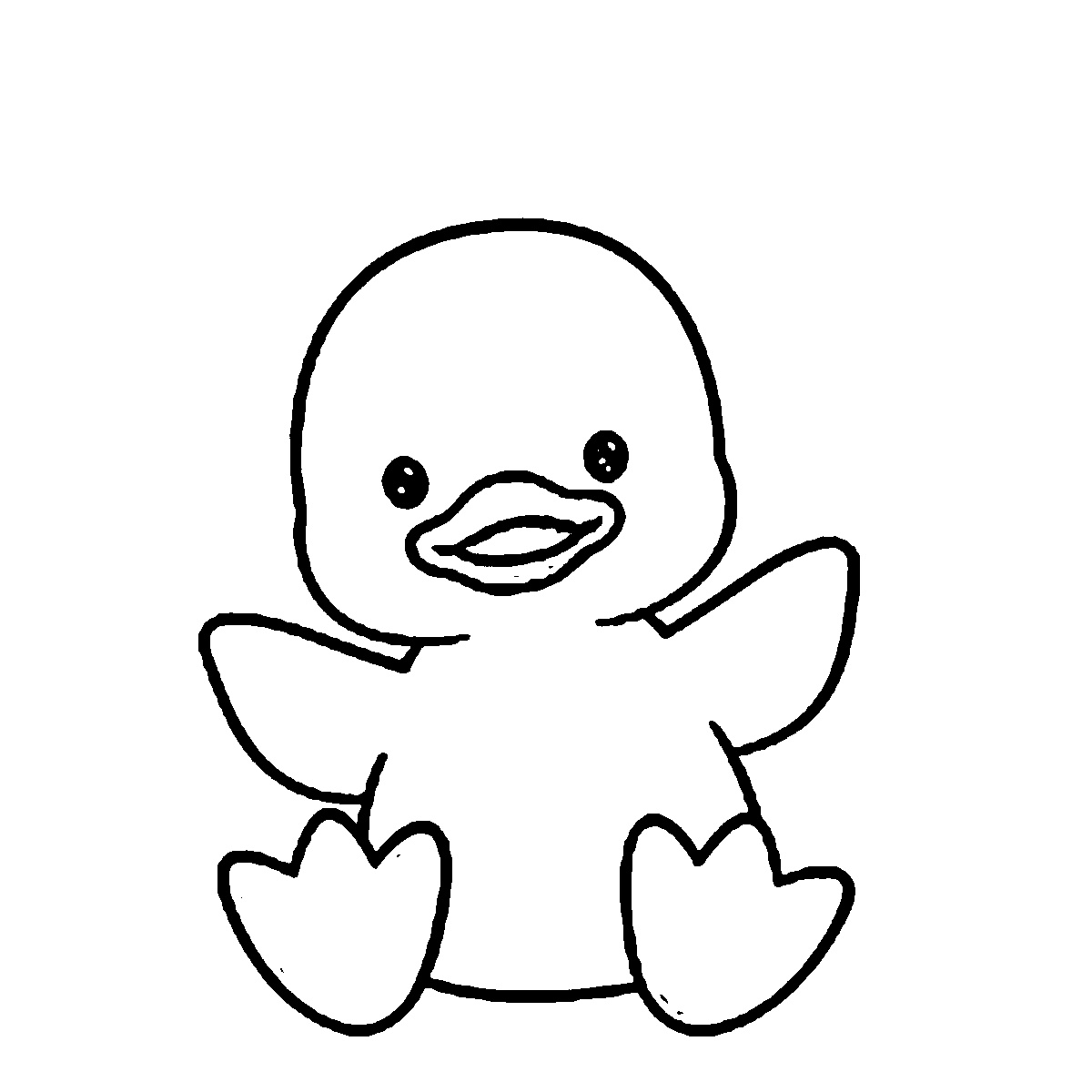 Duck Coloring Pages Cute
