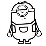 Easy Coloring Pages Minion
