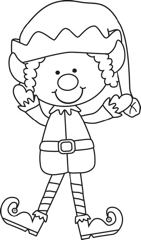 Elf Coloring Pages On The Shelf
