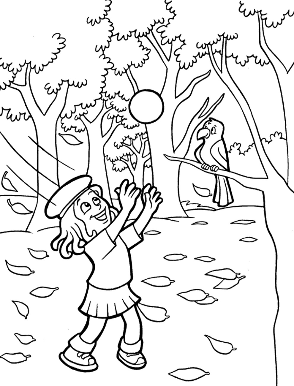 Fall Coloring Sheets Printable