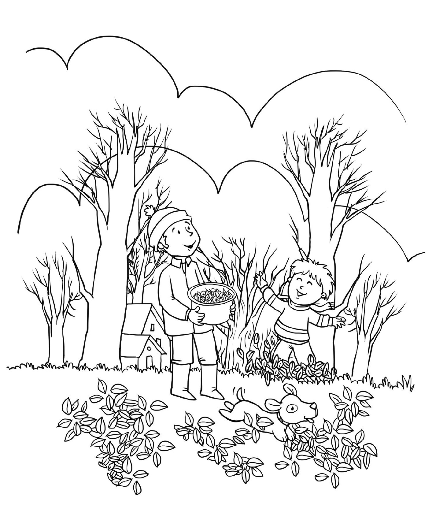 Fall Coloring Sheets To Print
