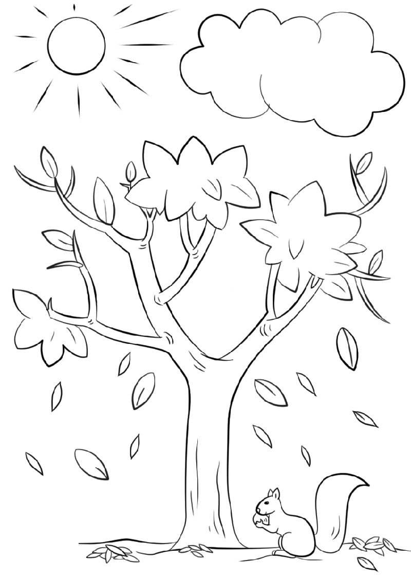 Fall Coloring Sheets Tree