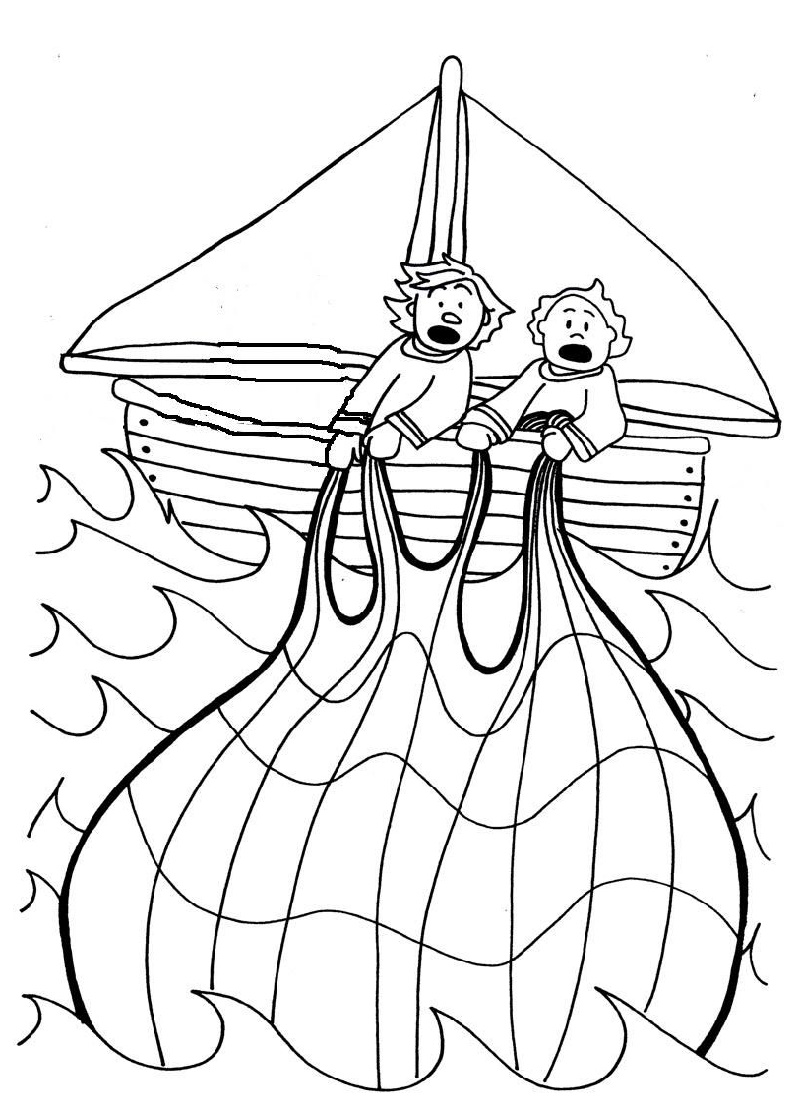 Fishers Of Men Coloring Page For Kids