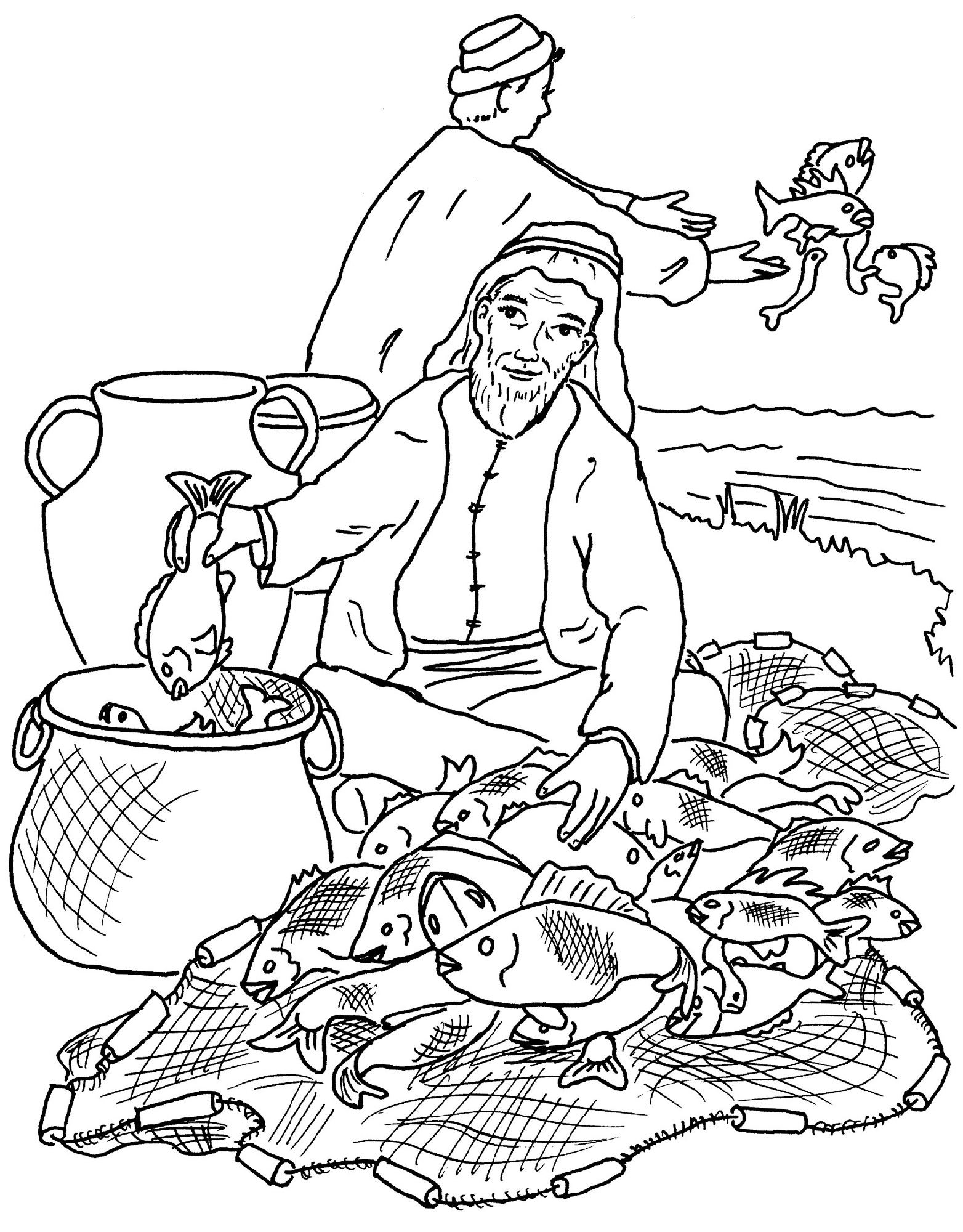 Fishers Of Men Coloring Page Free