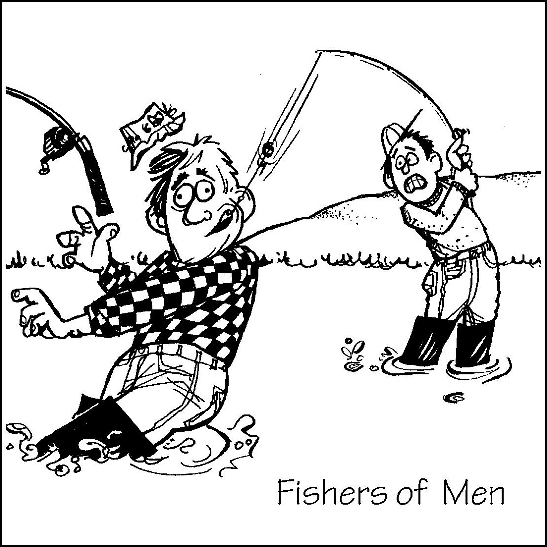 Fishers Of Men Coloring Page To Print