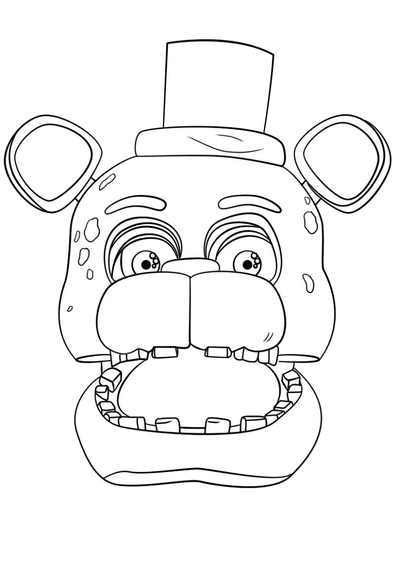 Freddy Fazbear Coloring Page FNAF
