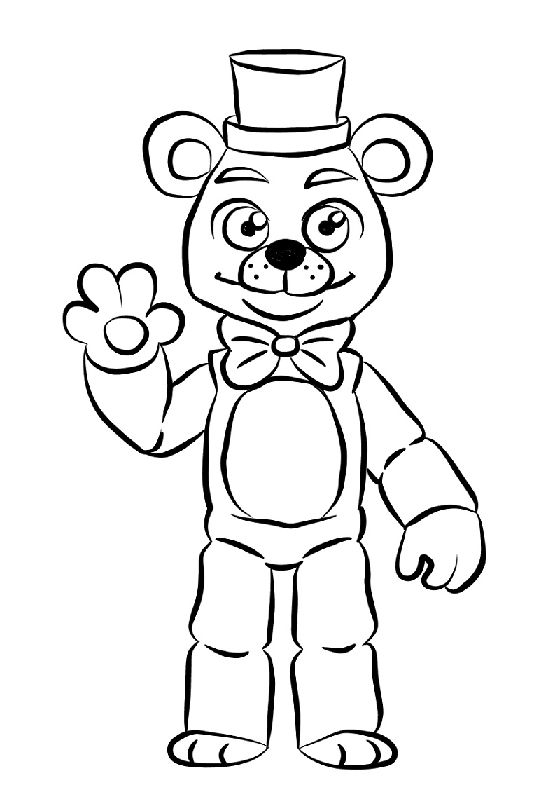 Freddy Fazbear Coloring Page Golden