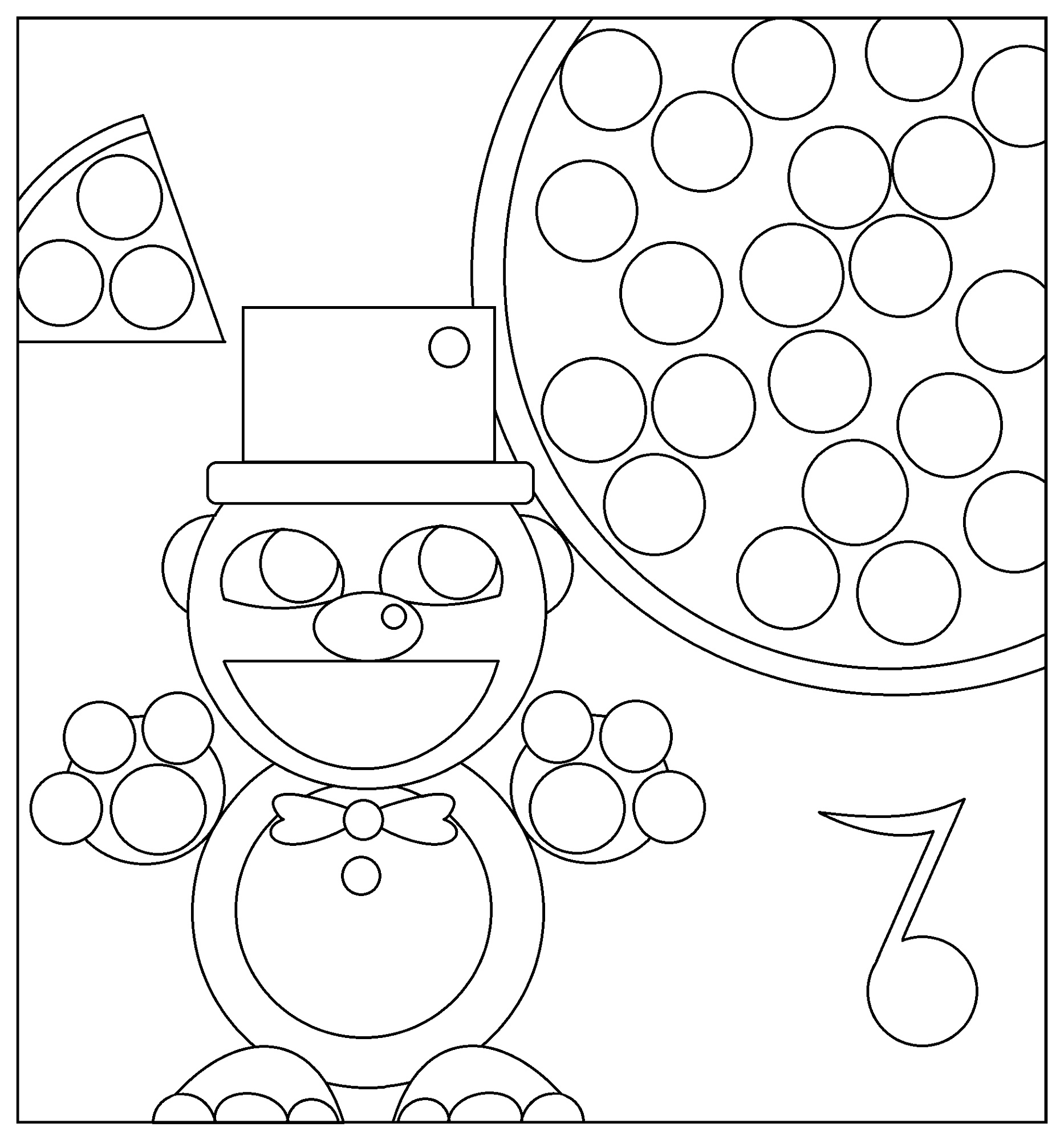 Freddy-Fazbear-Coloring-Page-Printable