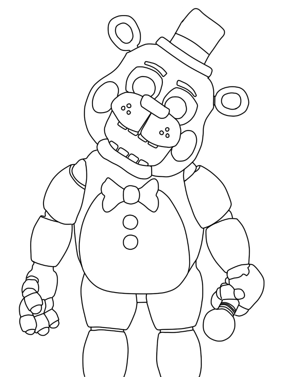 Freddy Fazbear Coloring Page To Print