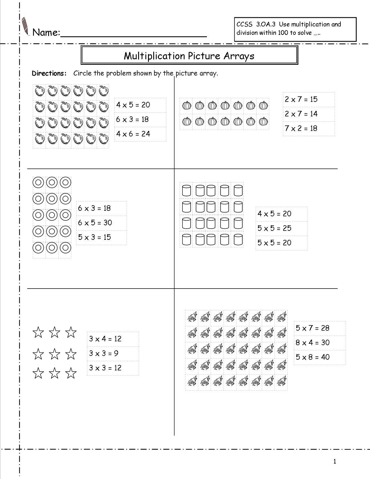 Free Elementary Math Worksheets 3rd Grade