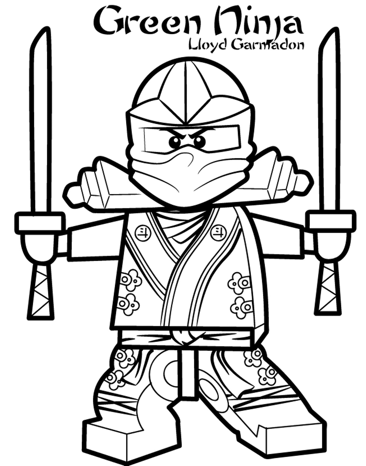 Free Ninjago Coloring Pages Llyod