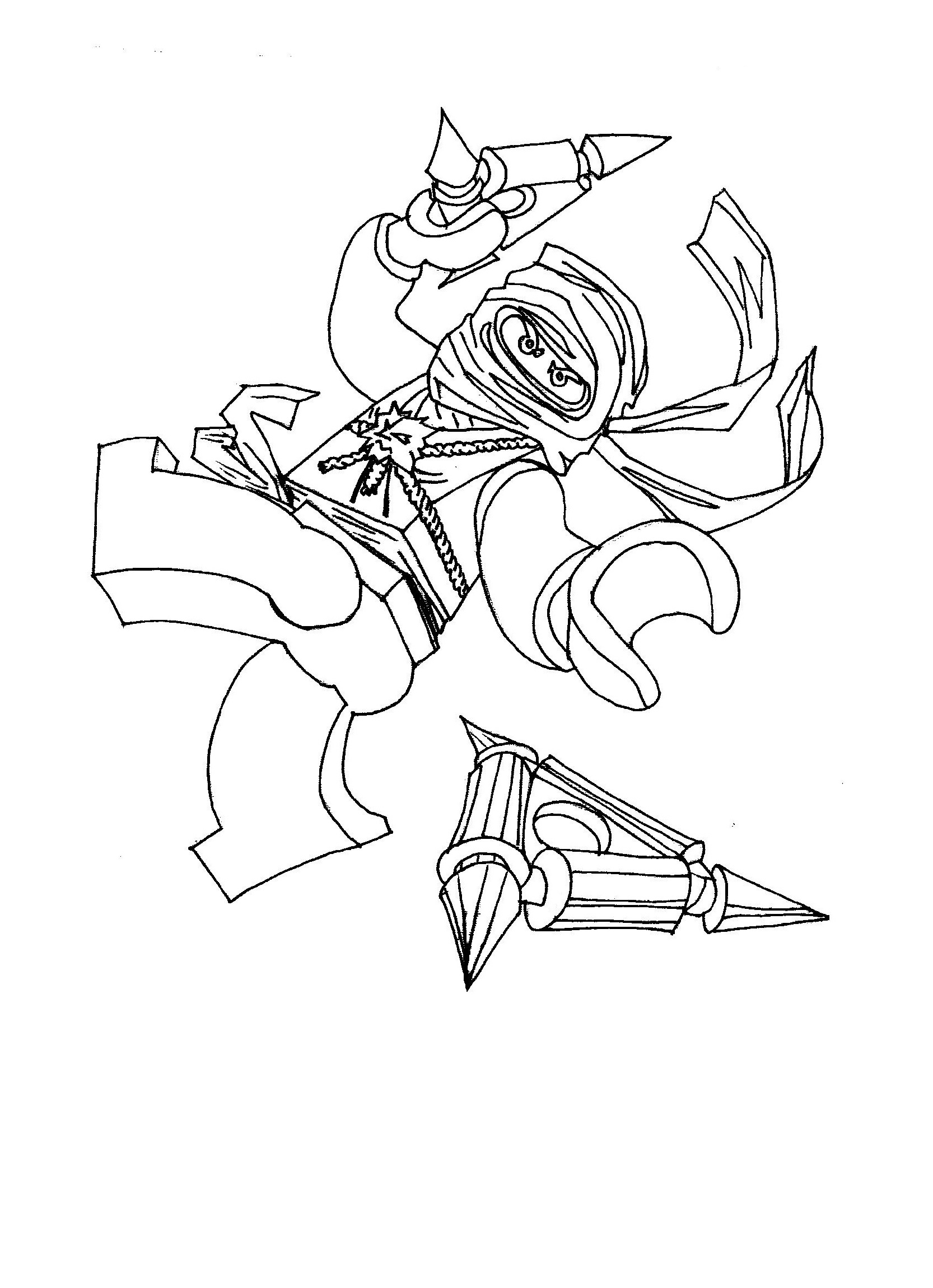 Free Ninjago Coloring Pages Printable