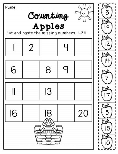 Free Printable Activities For Kids Counting