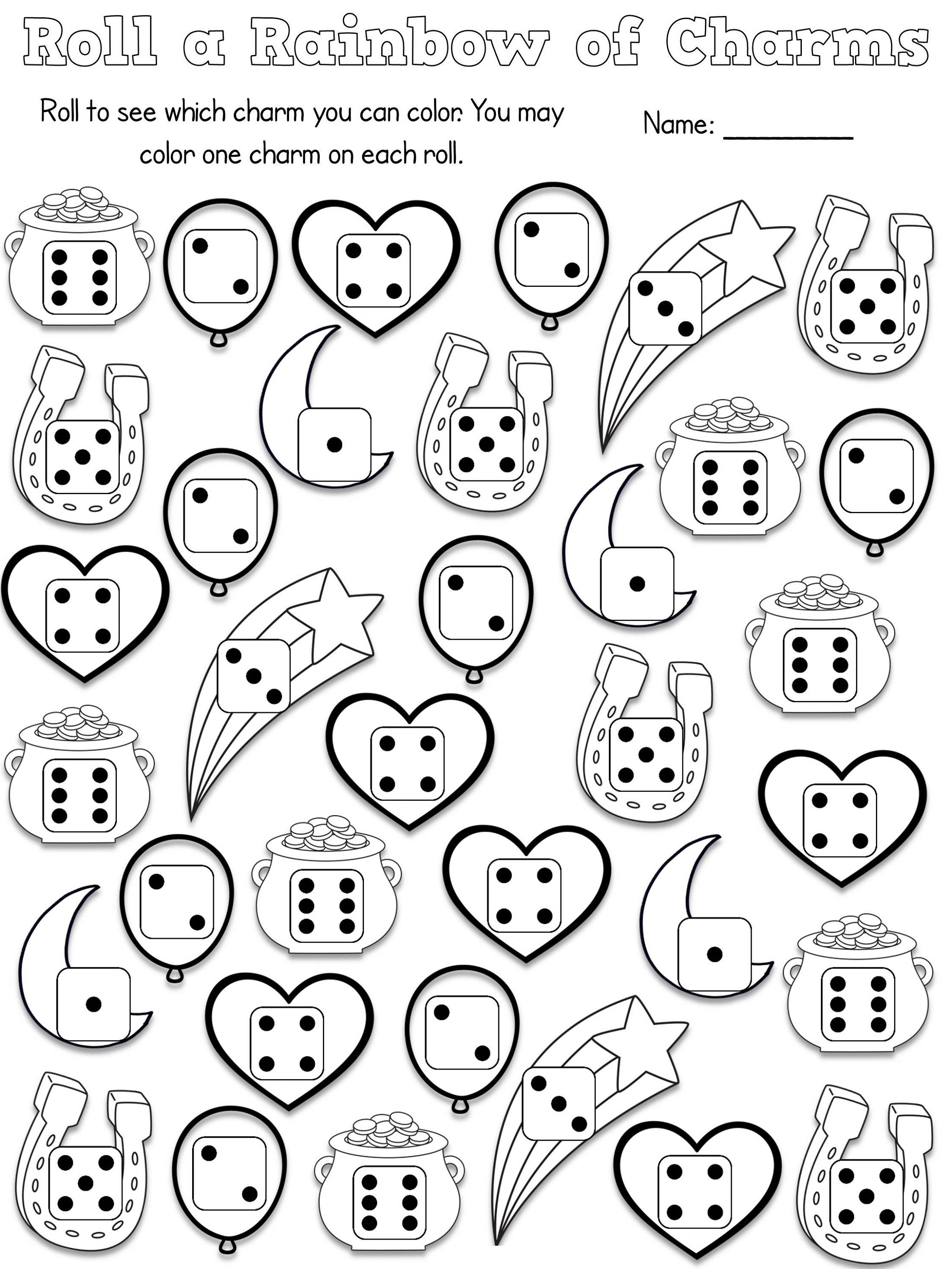 Free Printable Activities For Kids Dice