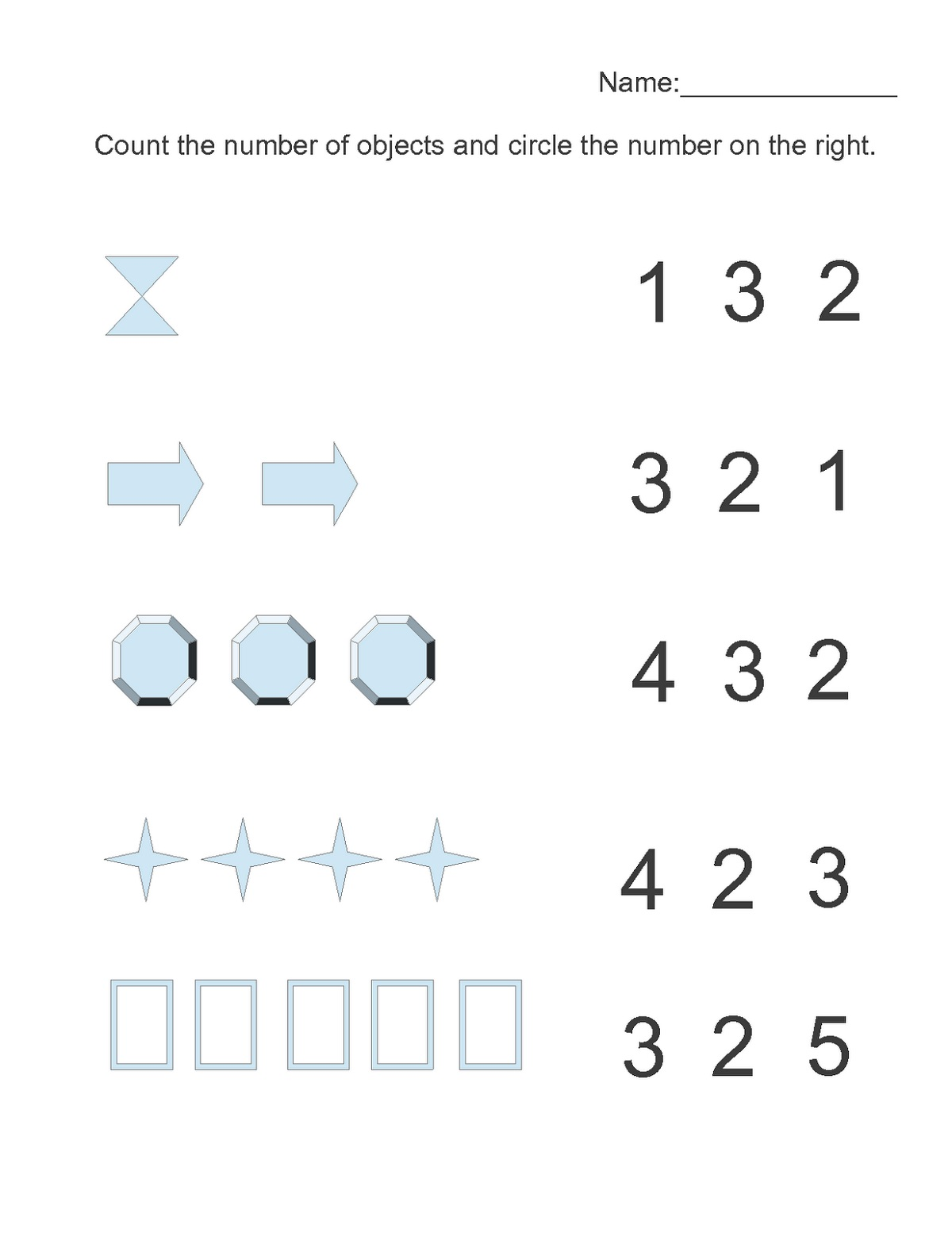 Free Printable Math Pages Counting