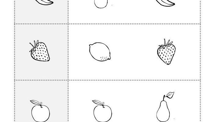 Free Printable Toddler Worksheets Same And Different