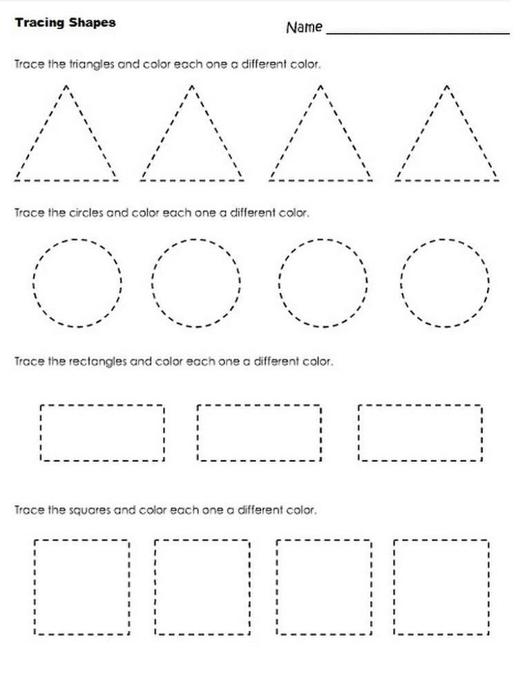 Free Printable Toddler Worksheets Shapes