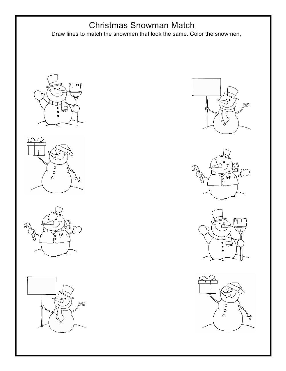 Free Toddler Worksheets Matching