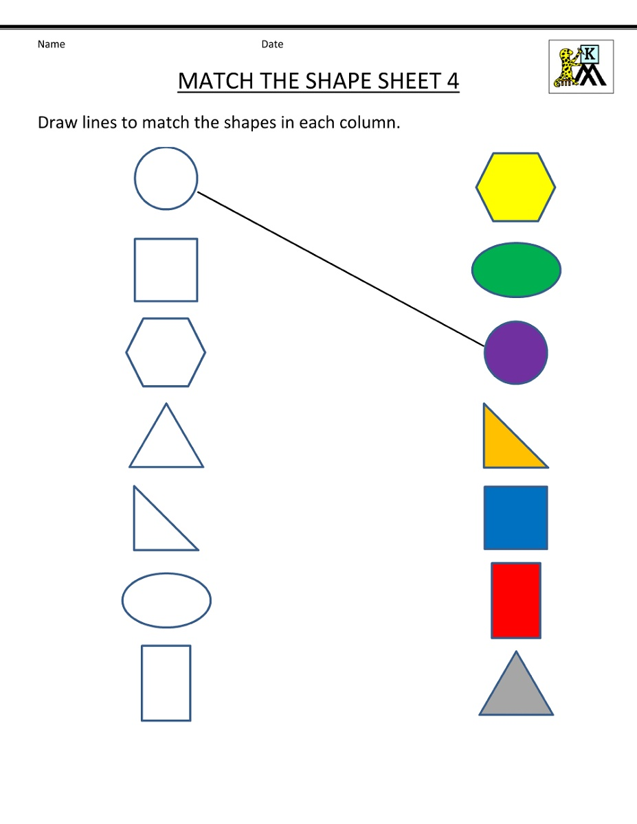Free Toddler Worksheets Shapes
