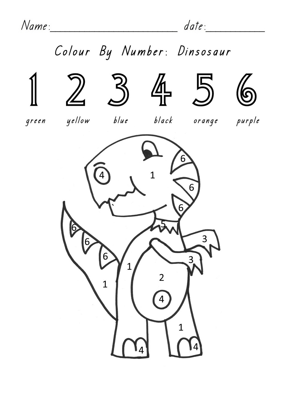 Fun Activity Sheets Color By Numbers