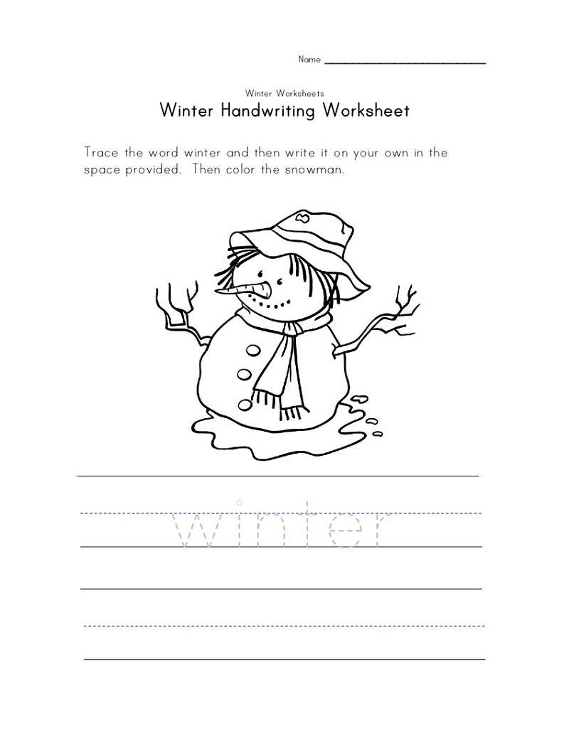 Fun Activity Sheets Handwriting
